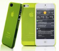 Чехол-накладка на Apple iPhone 5/5S, пластик, тонкий, матовый, зеленый