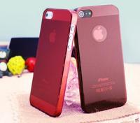 Чехол-накладка на Apple iPhone 5/5S, пластик, тонкий, матовый, красный