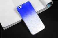 Чехол-накладка на Apple iPhone 5/5S, пластик, капли, синий