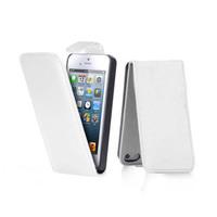 Флип-кейс на Apple iPhone 4/4S, кожа, с язычком, белый