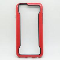 Бампер на Apple iPhone 6/6S, силикон, противоударный, черно-красный