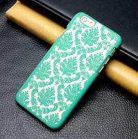 Чехол-накладка на Samsung A7 пластик, узор, зеленый