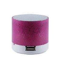 Портативная колонка, Noname, S10 LED mini, Bluetooth, microSD, USB, розовый