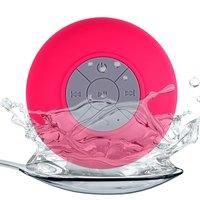 Портативная колонка, Noname, Bluetooth, влагозащитная, 5 кн, микрофон, розовый