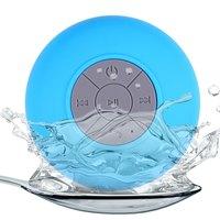 Портативная колонка, Noname, Bluetooth, влагозащитная, 5 кн, микрофон, голубой
