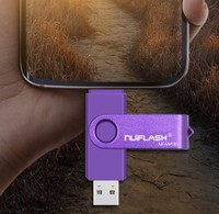 Память USB 2.0 Flash, 32GB, Nuiflash, OTG Type-C, фиолетовый
