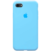Чехол-накладка на Apple iPhone 11 Pro, силикон, original design, микрофибра, с лого, голубой