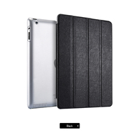 Чехол Smart-cover для Apple iPad 2/3/4, полиуретан, черный