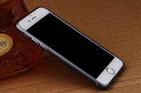 Бампер на Apple iPhone 5/5S, алюминий, серый