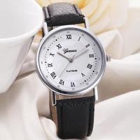 Часы наручные Geneva, ц.белый, р.черный, кожа Д02328