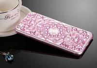Чехол-накладка на Apple iPhone 7/8, силикон, кристалы, фиолетовый