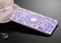 Чехол-накладка на Apple iPhone 7/8, силикон, кристалы, синий
