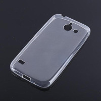 Чехол-накладка для Huawei Ascend Y550 силикон, ультратонкий, прозрачный