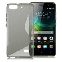 Чехол-накладка для Huawei Honor 4C силикон, S-line, серый