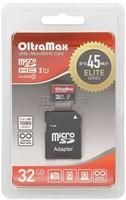 Карта памяти MicroSDHC 32GB Oltramax, Class 10 (c SD-адаптером)