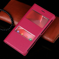 Чехол-книжка на Sony Xperia M2 кожа, розовый
