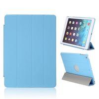 Чехол Smart-cover для Apple iPad Air, полиуретан, вырез, голубой
