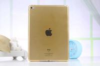 Чехол накладка для Apple iPad mini 4, силикон, прозрачный, желтый