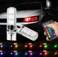 Лампы LED, Т10, RGB, управление с ПДУ, 2шт.