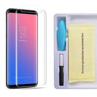 Защитное стекло для Samsung Galaxy S10 Plus на дисплей, 4D, Full Glue, Friendly Case, UV, прозрачный