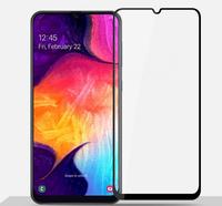 Защитное стекло Samsung Galaxy A40 (2019) на дисплей, с рамкой, 4D, черный