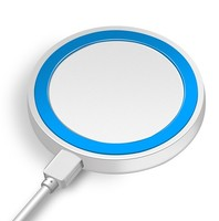 Беспроводное зарядное устройство, JoyRoom, круглое, бело-синий