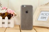 Чехол-накладка на Apple iPhone 6/6S Plus, силикон, ультратонкий, блестящий, черный