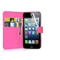 Чехол-книжка на Apple iPhone 7/8 Plus, полиуретан, с язычком, розовый