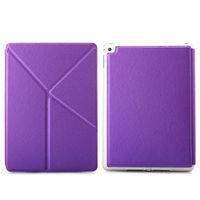 Чехол Smart-cover для Apple Ipad Air 2, полиуретан, трансформер, фиолетовый