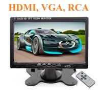 "Монитор BYNCG, 7.0"", 1024*600, 12В, кронштейн, RCA, HDMI, VGA, пульт ДУ, блок питания"