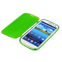 Чехол-книжка на Samsung S3 силикон, зеленый