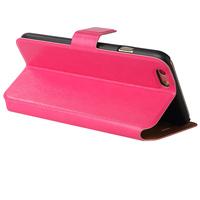 Чехол-книжка на Apple iPhone 6/6S, кожа, язычок, ярко розовый