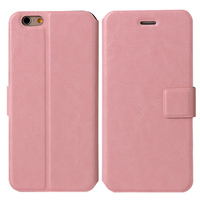 Чехол-книжка на Apple iPhone 6/6S, кожа, язычок, розовый