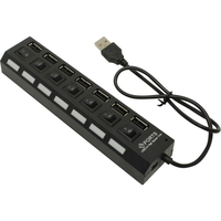 USB-хаб 2.0, Smart Buy SBHA-7207-B, 7 портов, с выключателем портов, черный