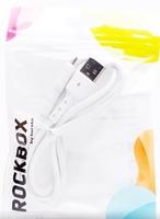 Кабель microUSB RockBox RC-M03, белый, 1м