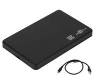 "Бокс для HDD, 2.5"", USB2.0, USB2.0-miniUSB, черный"
