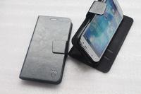 Чехол-книжка на Samsung S5 кожа, черный
