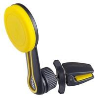 Автомобильный держатель, Perfeo-PH-532, воздуховод, магнитный, затягивающийся, черно-желтый