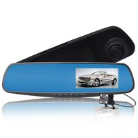 "Видеорегистратор зеркало с камерой заднего вида TDS TS-CAR13, HD, 4.3"""
