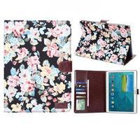 Чехол Smart-cover для Samsung Galaxy Tab S 10.5, полиуретан, текстиль, цветы