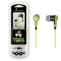 Наушники Smart Buy TOXIC, вакуумные, внутриканальные, 16-20 кГц, 1.2 м, зелёный (SBE-2700)
