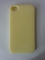 Чехол-накладка на Apple iPhone 4/4S, силикон, желтый