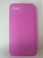 Чехол-накладка на Apple iPhone 4/4S, силикон, матовый, розовый