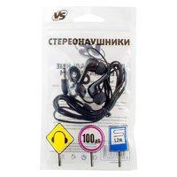 Наушники VS 001-BLK, вакуумные, черный