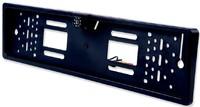 Камера заднего вида Podofo, рамка гос.номера, 8 диодов, с диодной подсветкой, черный