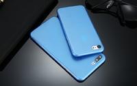Чехол-накладка на Apple iPhone 7/8 Plus, пластик, ультратонкий, матовый, синий