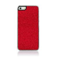 Чехол-накладка на Apple iPhone 5/5S, пластик, блестящий, красный