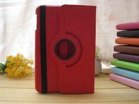 Чехол Smart-cover для Apple iPad mini 1,2,3, кожа, вращающийся, красный