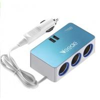 Разветвитель автоприкуривателя VEECLE KY-528 (3 выхода + 2 USB)
