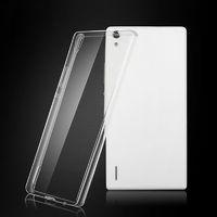 Чехол-накладка для Huawei Ascend P7 силикон, ультратонкий, прозрачный